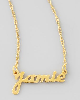 Moon & Lola Personalized Gold Name Pendant Necklace y88RE