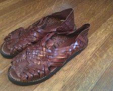a1101b839163f Vintage Huaraches / Brown Leather Huaraches / Made in Mexico / Eddie ...