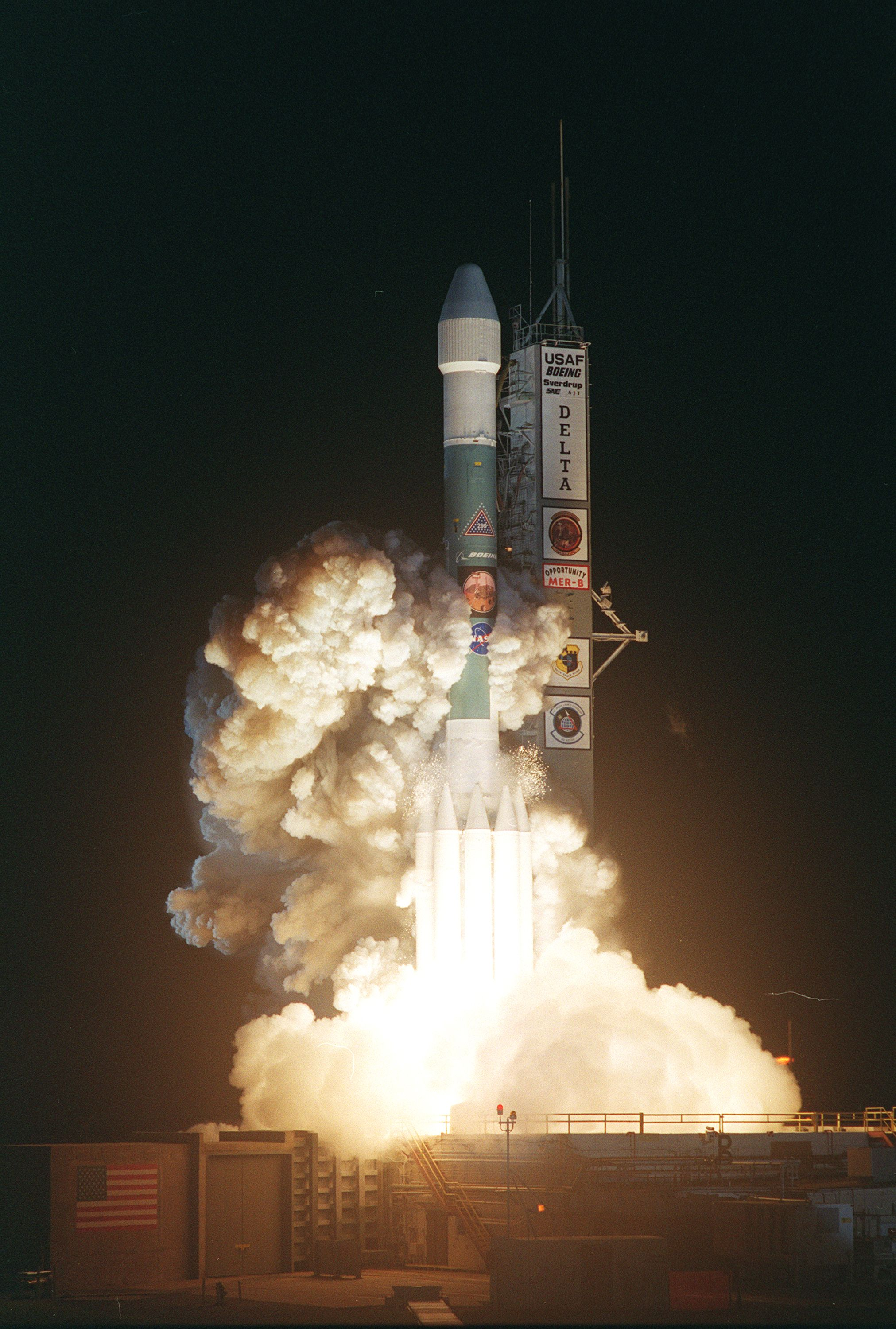 On July 7, 2003, NASA launched its second Mars Exploration Rover, Opportunity, aboard a Delta II launch vehicle.