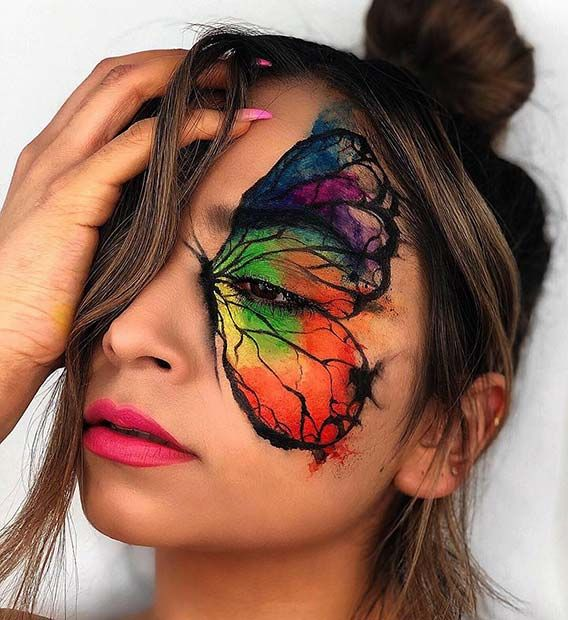 21 Most Beautiful Butterfly Makeup Ideas for Halloween | Page 2 of 2 | StayGlam