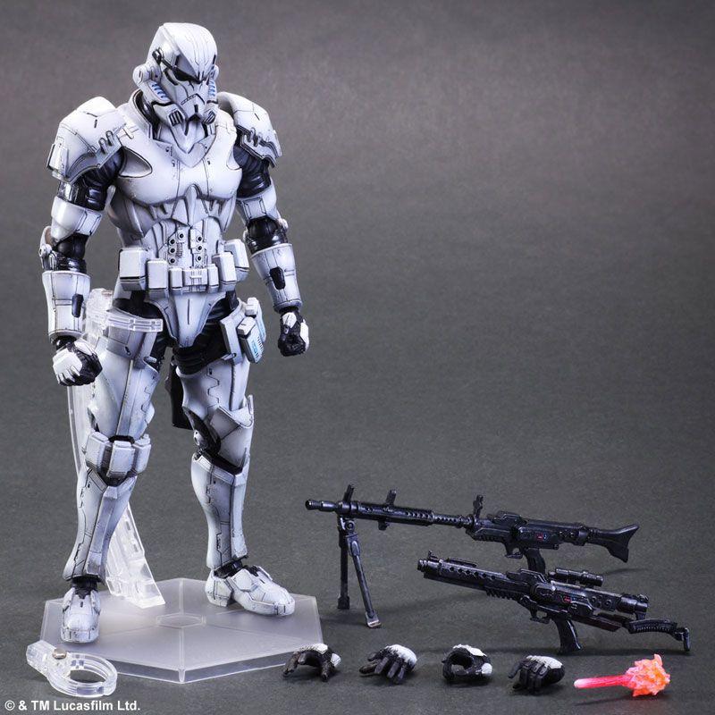 Play arts kai will turn boba fett and the stormtrooper