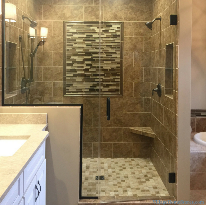 Moline il bathroom with custom tiled shower remodeled - Remodeling a house where to start ...