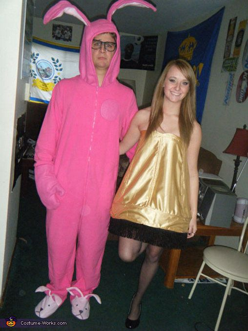 Leg Lamp and Pink Nightmare From A Christmas Story Couple costume - unique couples halloween costumes ideas