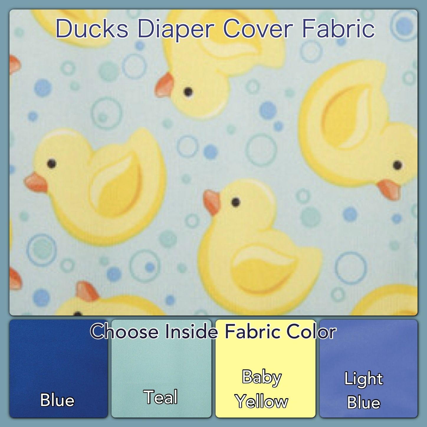 Ducks waterproof cloth diaper covers by titus company shop etsy