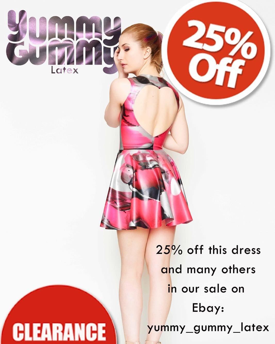 Don't miss out on our sale happening on eBay. Link in bio!! #latex #yummygummylatex #yummygummy #latexfetish #latexfashion #latexdress #openbackdress #sale #25%off
