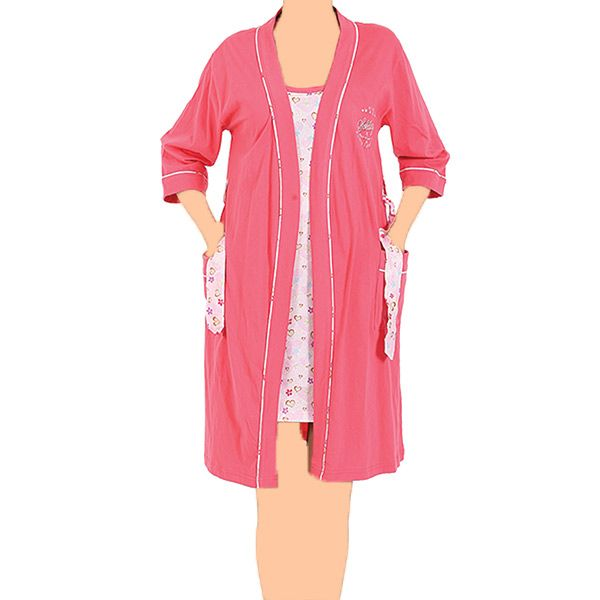روب تركي قصير قطعتين بلمسة سحرية 4110714062p Wrap Dress Fashion Coat
