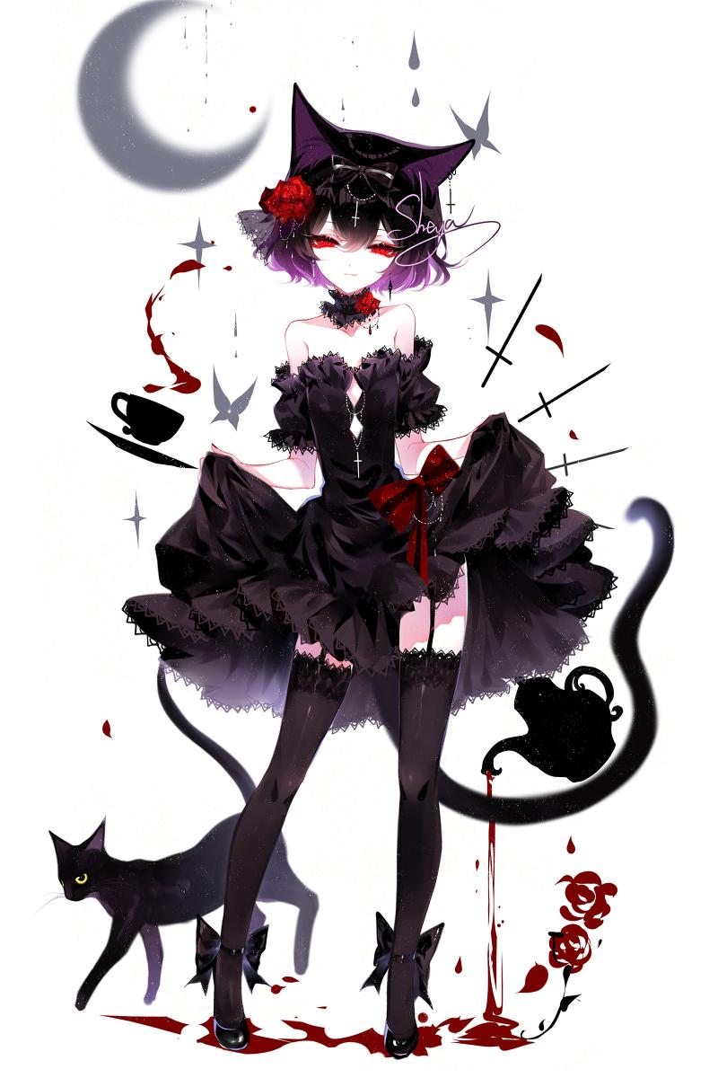 original, sable, candle / pixiv【2020】 芸術的アニメ少女, ダーク