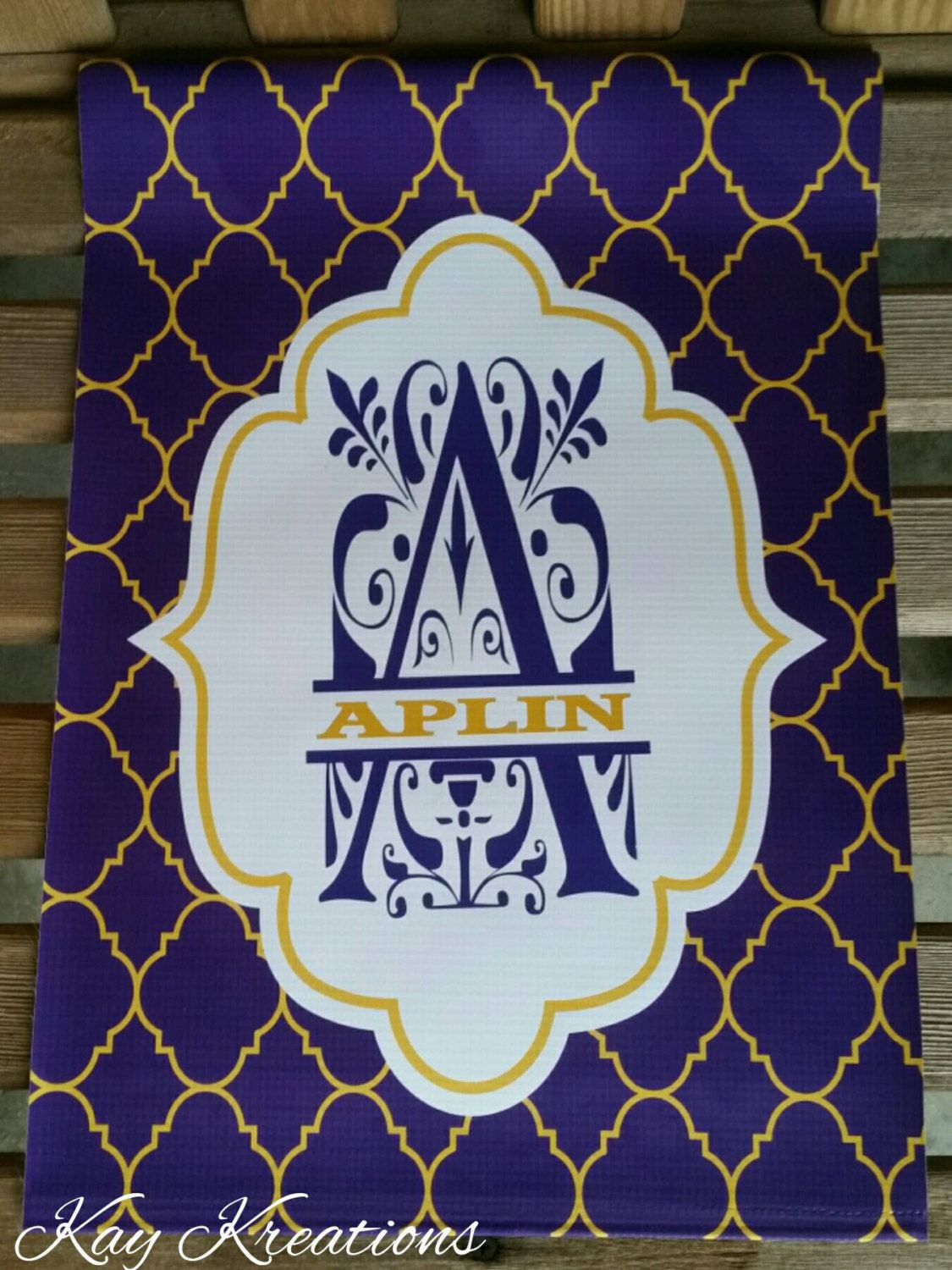 LSU Garden Flag   Yard House Flag   Home LSU Garden Flag   Personalized  Purple And Gold Flag   Personalized House Flag