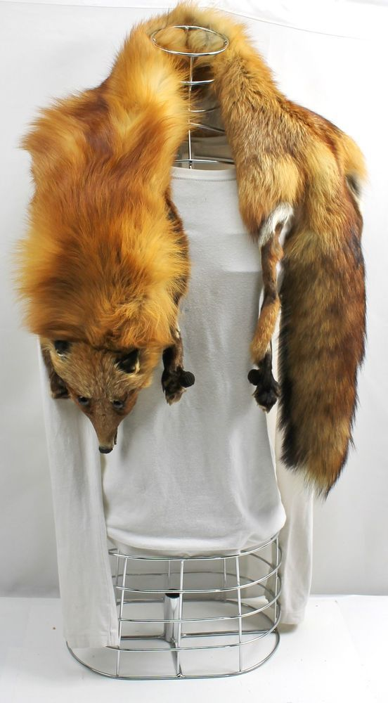 Luxurious Vintage 1930 1950s Red Fox Fur Full Body Amp Head