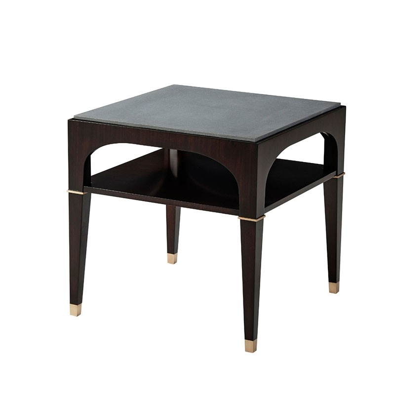 Marquina Side Table Table Round Marble Table Concrete Furniture