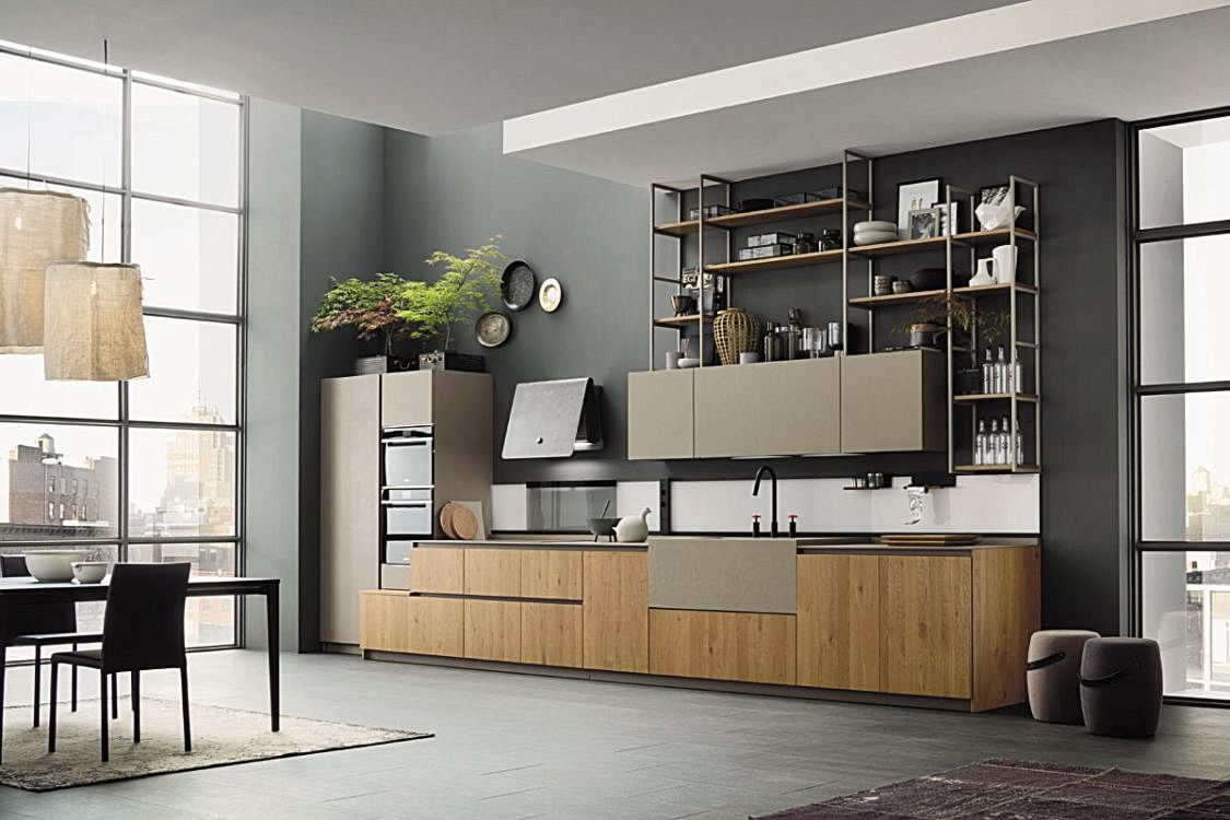 Accostamenti In Cucina il metallo, il legno, le luci: tutti insieme nella tua nuova