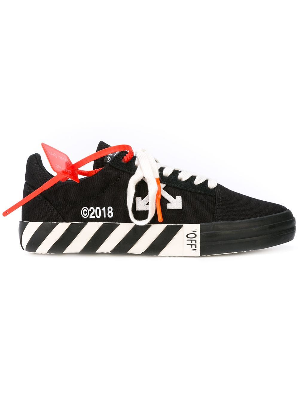Off White Shoes Logo-appliquéd Full-grain Leather Sneakers In Black | Off white ...