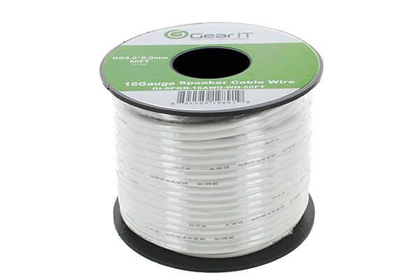 16AWG Speaker Wire, GearIT Pro Series 16 Gauge Speaker Wire Cable ...