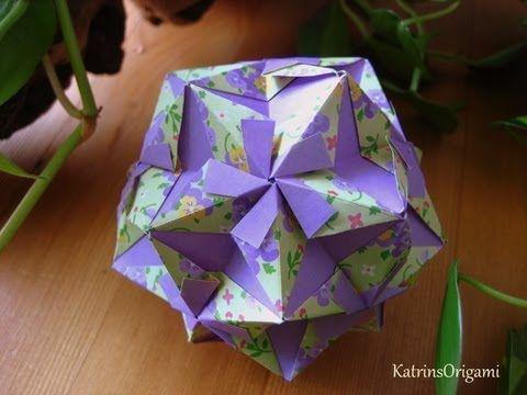 Origami ☾* Navi Star ☾* Kusudama - YouTube