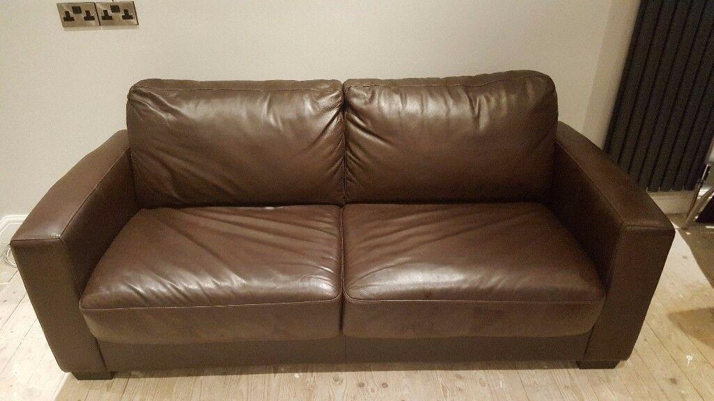 Best Brown Leather Sofa Bed Gumtree En 2020 Living 400 x 300