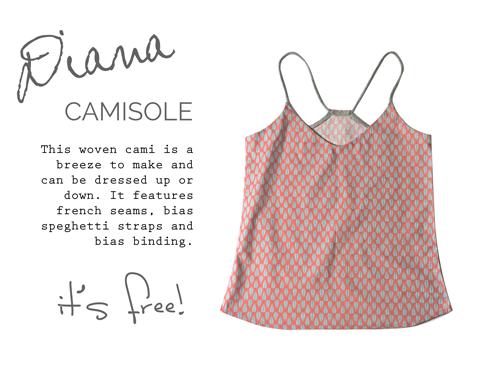 Diana Cami Sewing Pattern | free digital download | Sewloft