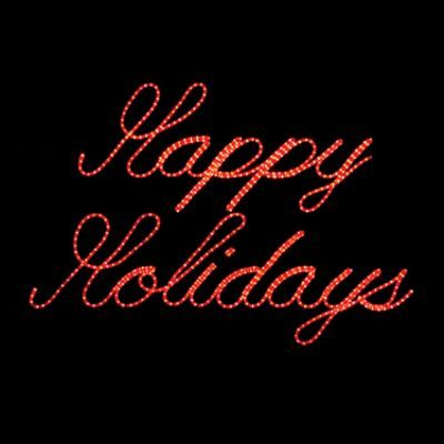 Led Happy Holidays Lighted Holiday Sign Holiday Signs Happy Holidays Sign Outdoor Christmas Decorations