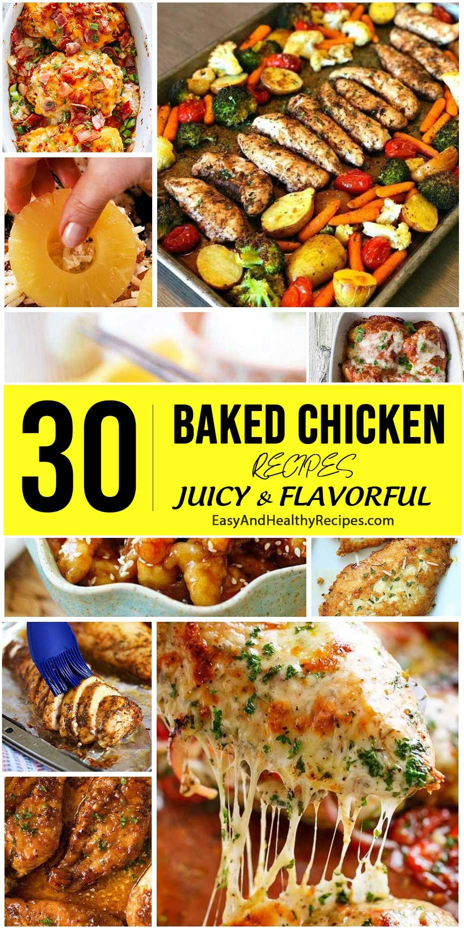 30 Baked Chicken Recipes So Juicy Food Network Cooking In