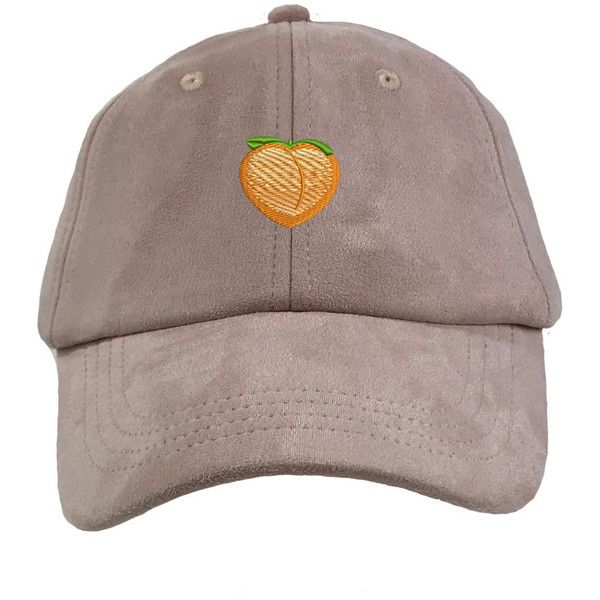 687650ef PEACH EMOJI Dad Hat, Suede Peach Baseball Hat Embroidered Baseball... (575  UYU) ❤ liked on Polyvore featuring accessories, hats, peach hat, light pink  ...