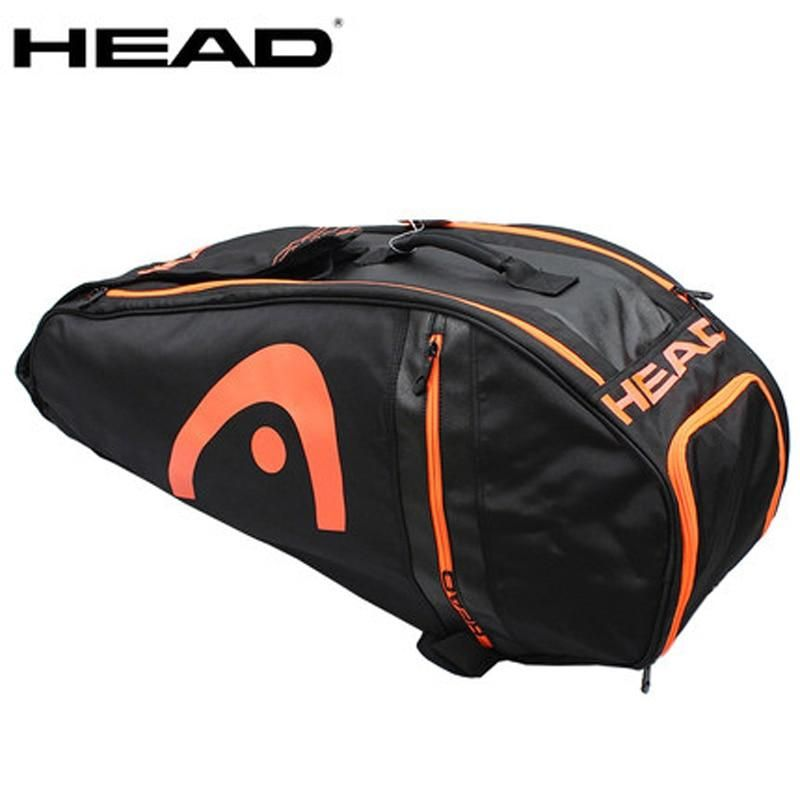Head Tennis Bag Large Capacity Racket Backpack With Shoes Bag Can Hold 6 9 Rackets Big Bags Men Raquete De Tennis In 2020 Tennis Bag Head Tennis Bag Bags