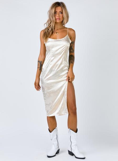 Midi Dresses Princess Polly USA Slip dress, Cream