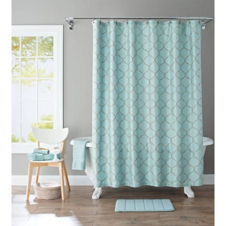 Bathroom Curtains At Walmart | Better Homes And Gardens Scalloped Trellis Embroidered Fabric Shower