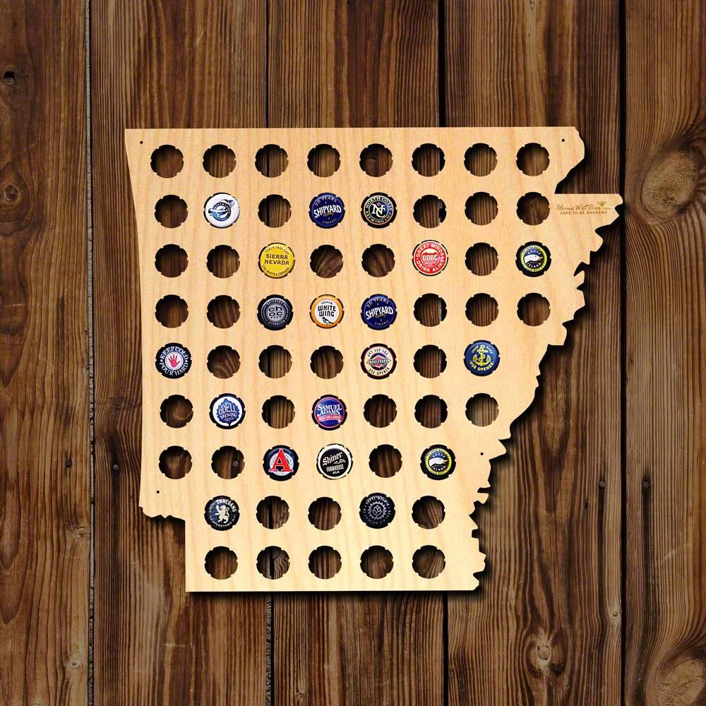 Arkansas Beer Cap Map, Brown | Products | Pinterest | Beer caps, Cap ...