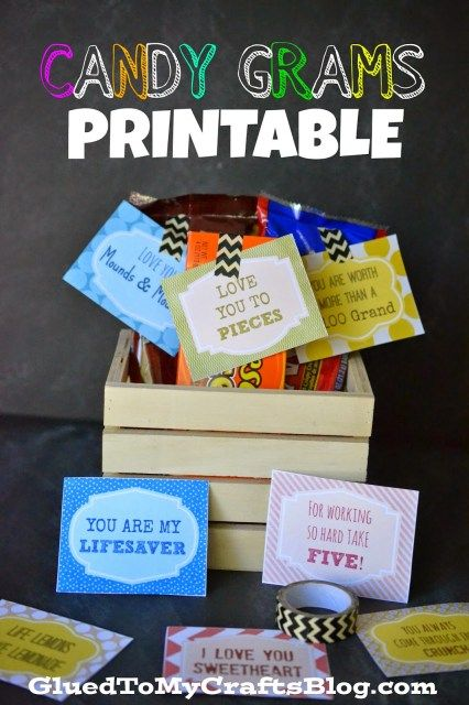 Candy Grams Free Printable Candy Grams Free Printable