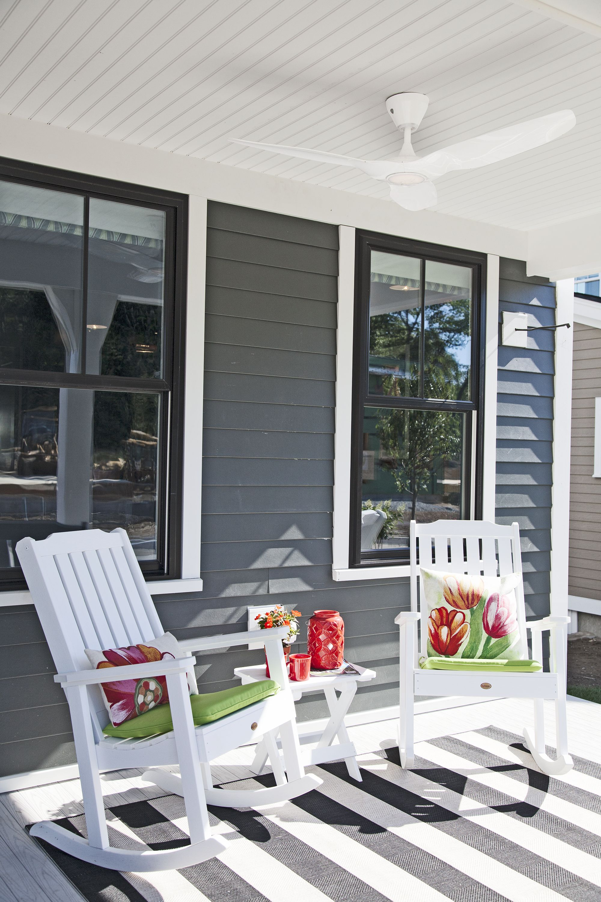Outdoor Rooms Fit For Entertaining Outdoor Rooms Rocking Chair Porch Front Porch Decorating