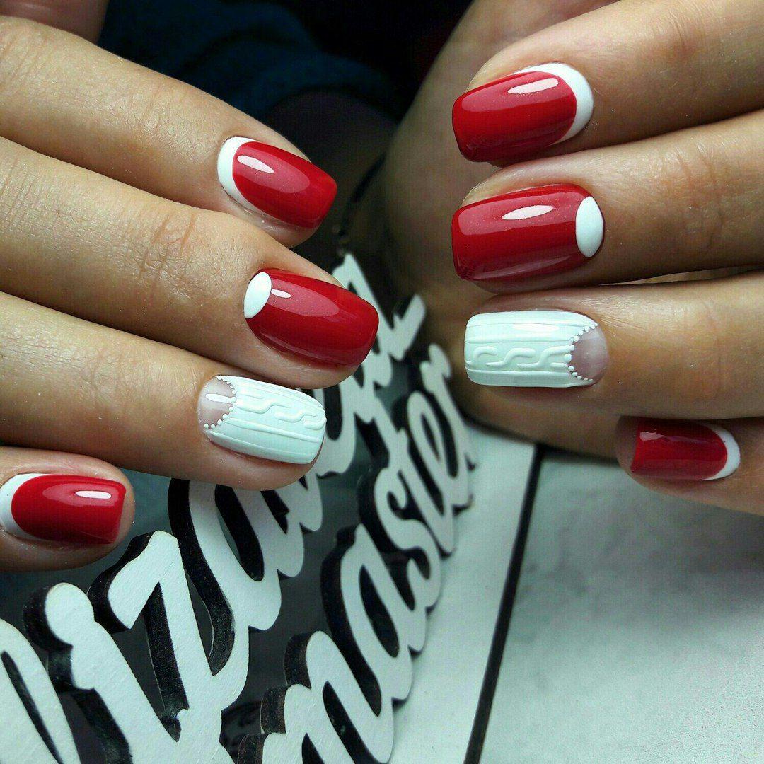 Белый маникюр на короткие ногти 2020 - 100 ЛУЧШИХ идей дизай