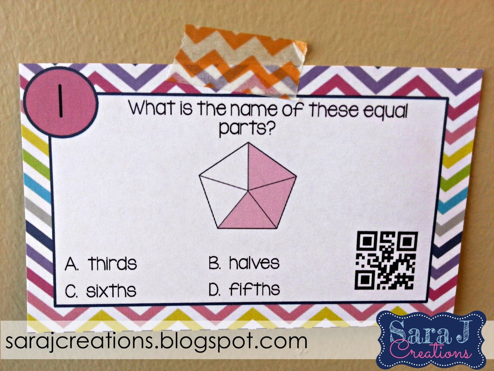 Love The Idea Of Adding A Qr Code To Check Their Answers For This Fraction Review