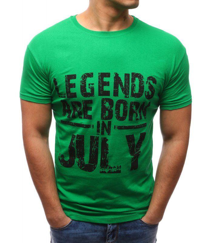 c19d281b9f5a Pánske zelené tričko s potlačou