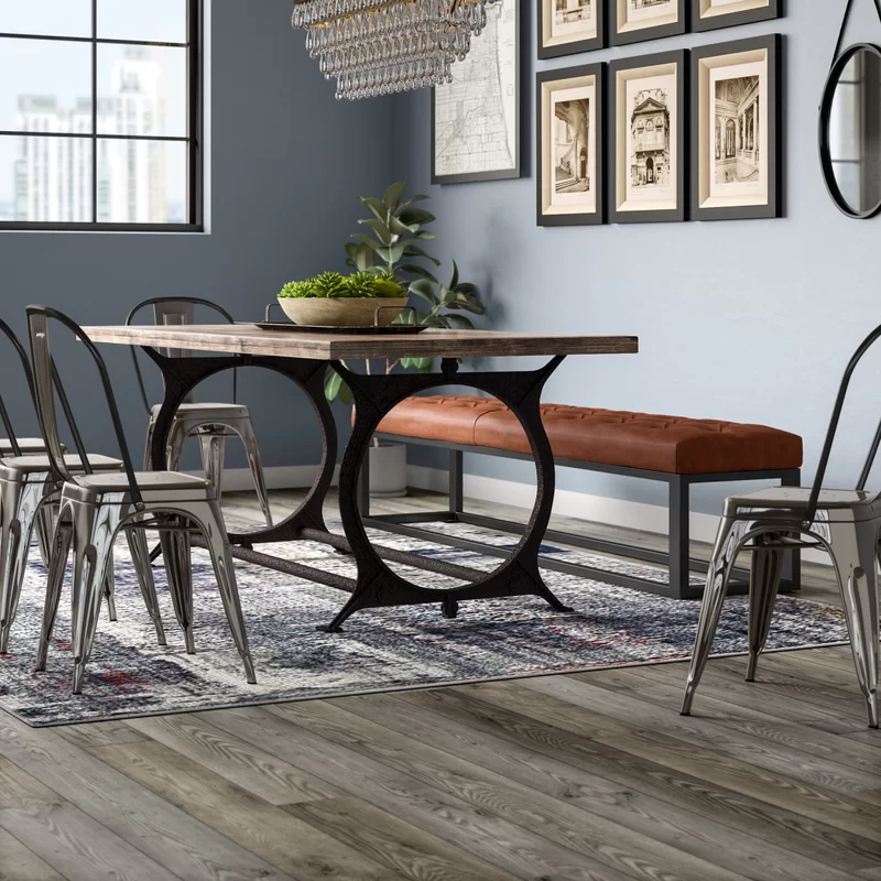 Williston Forge Edmunds Dining Table Dining Table Industrial Dining Table Brass Dining Table