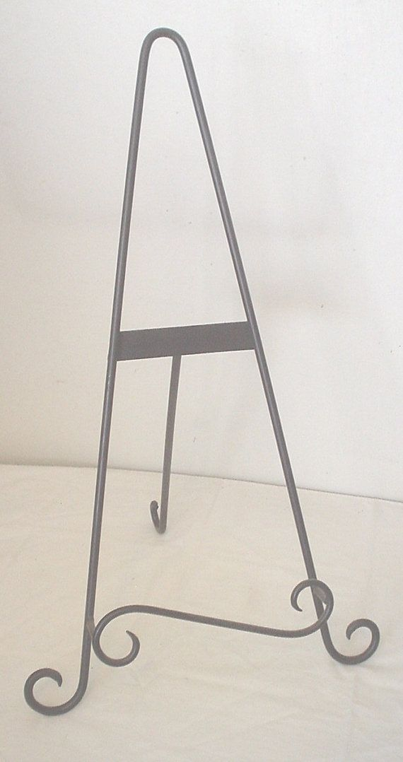 Scroll Wrought Iron Easel Stand Perfect For By Heroptionsforyou