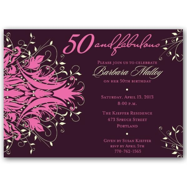 50th birthday invitations - Google Search Youu0027re invited - birthday invitation for adults