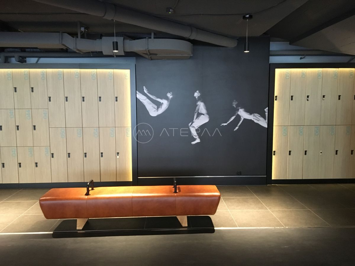 Design gym wardrobe bench design gym interior in zurich fitness