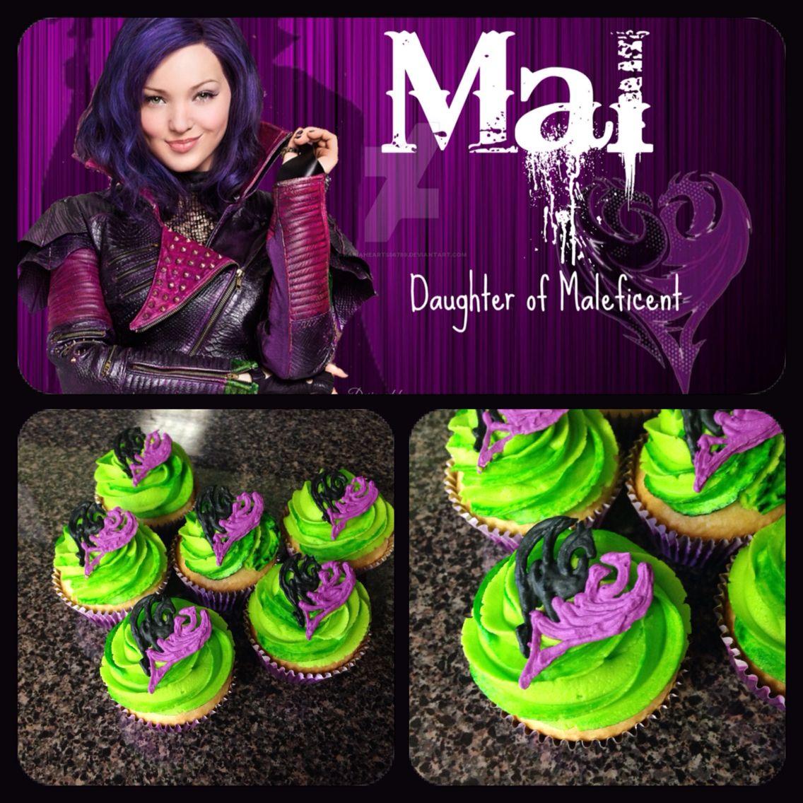 descendants mal cupcakes descendantfeestje pinterest candy