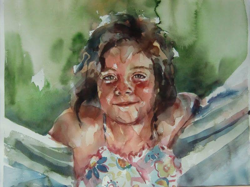 Encargos de retratos en acuarela realizado por Laura Castilla