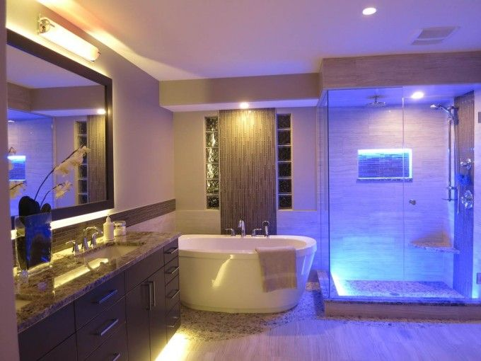 Bathroom Great Bathroom Atmosphere Supported By Stunning Lighting Idea Led Bathroom Lights Modern Bathroom Lighting Shower Lighting