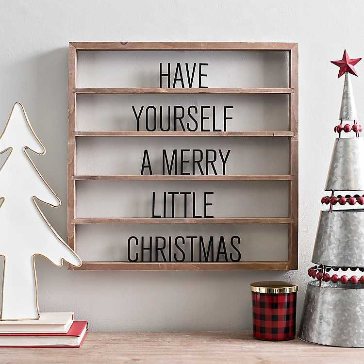Merry Little Christmas Floating Letter Board Kirklands Christmas Wall Decor Christmas Lettering Christmas Decor Diy