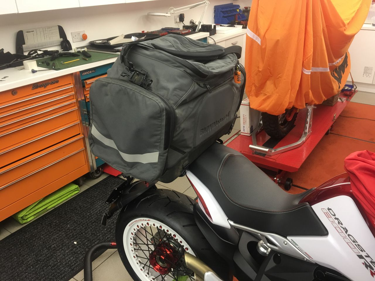 MV Agusta Dragster RR with luggage mount - huge bag | Motorcycles ...