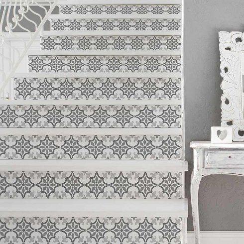 Stenciled Backsplash Tile Stencils Kitchen Diy Painted