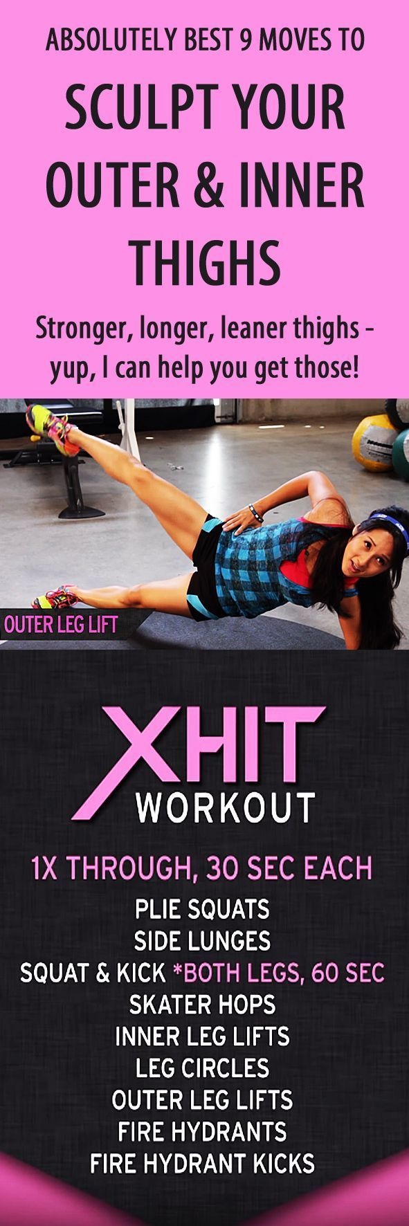Best 9 moves to sculpt your outer and inner thighs!