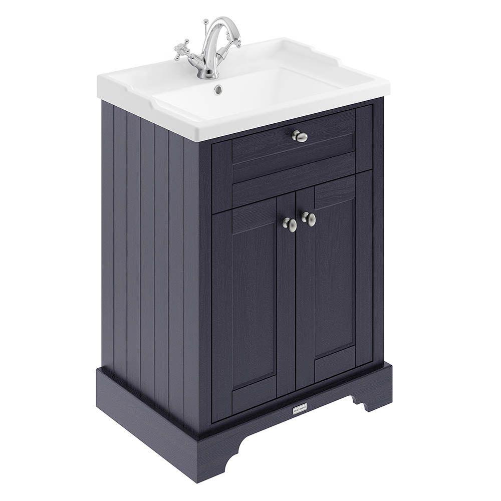 Old London 600mm 2 Door Cabinet Basin Twilight Blue Bathroom Vanity Units Vanity Units Traditional Bathroom Furniture