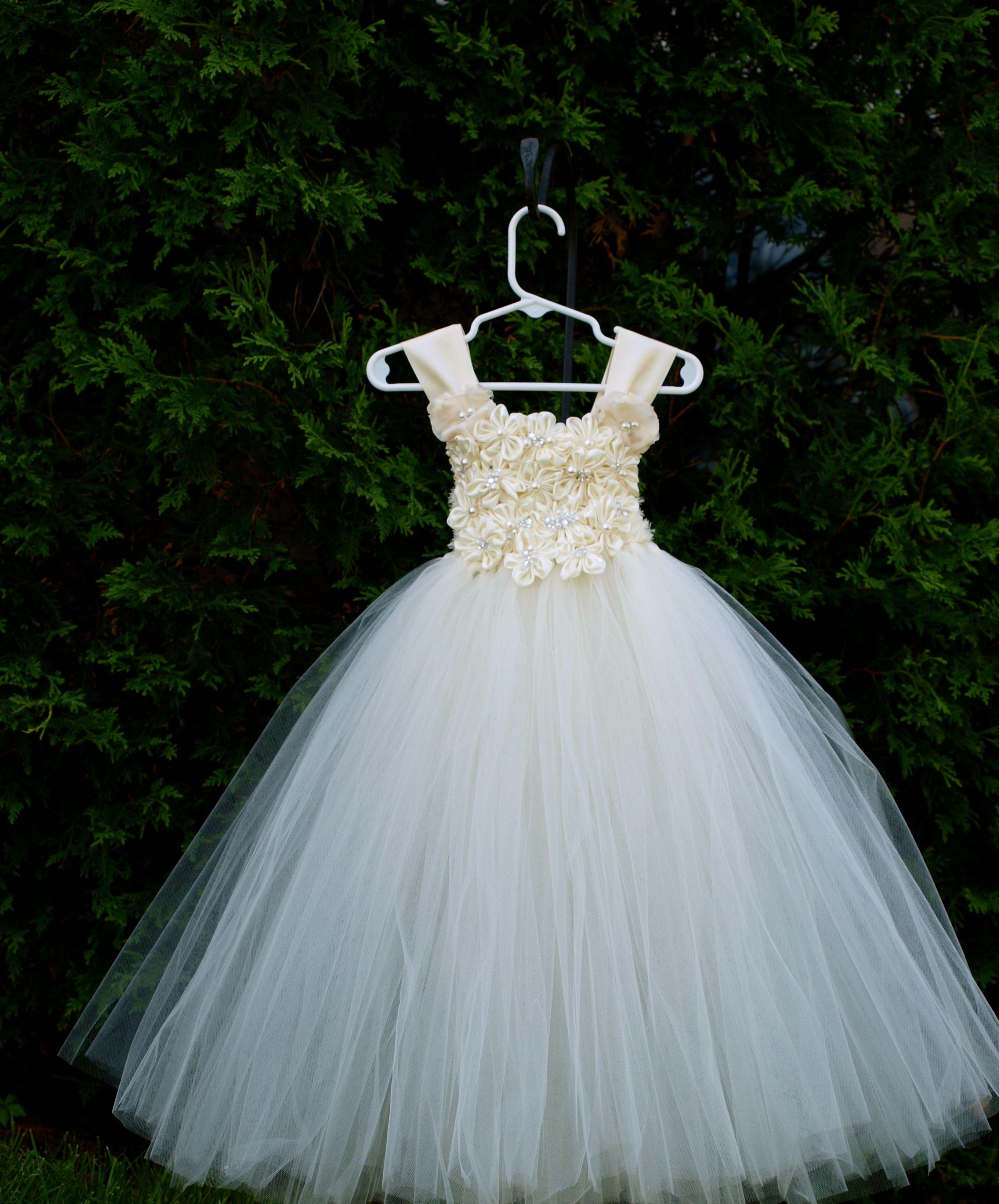 Elegant Light Champagne Long Tulle Skirt Extra Puffy Ball