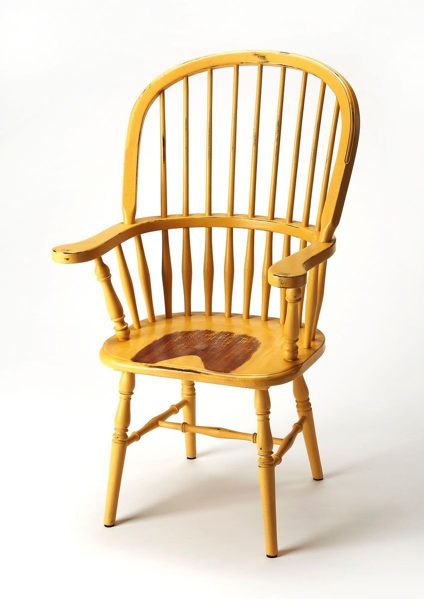 Fleming Transitional Arm Chair Yellow