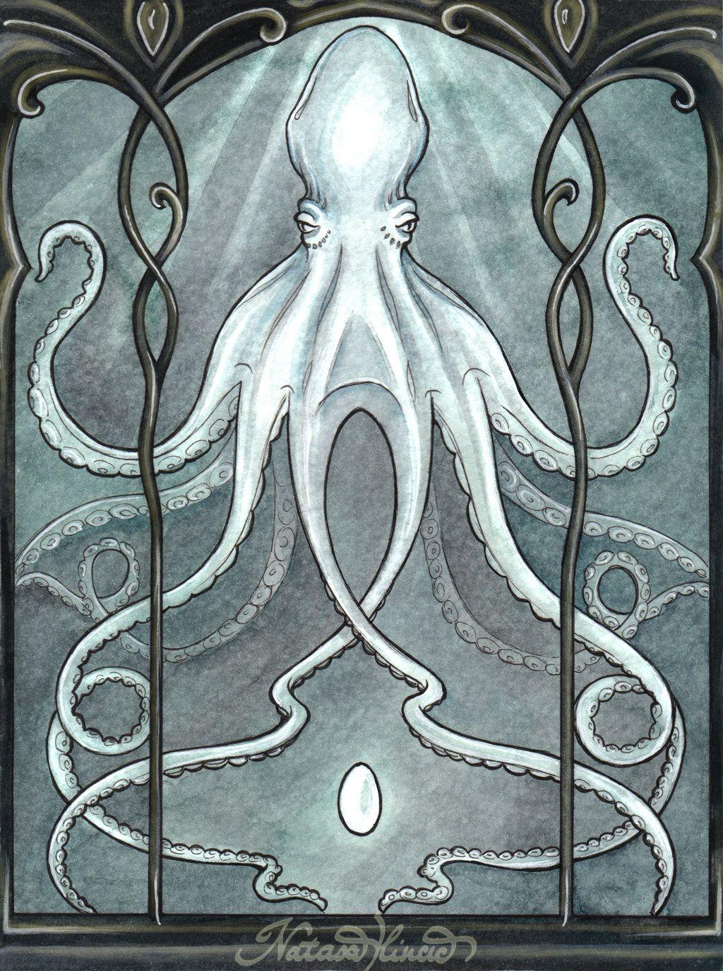 Alabaster Octopus By Unripehamadryad Deviantart Com On Deviantart