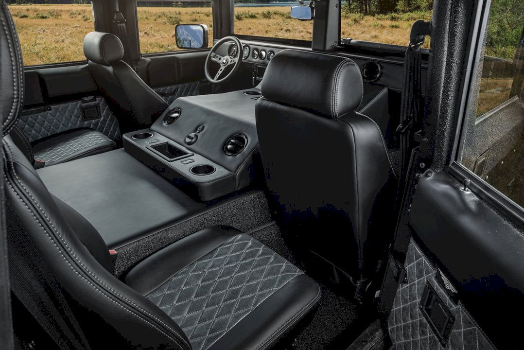 Mil Spec Automotive Hummer H1 Launch Edition A Tailored Experience In The Moments In Time Hummer Interior Hummer H1 New Hummer