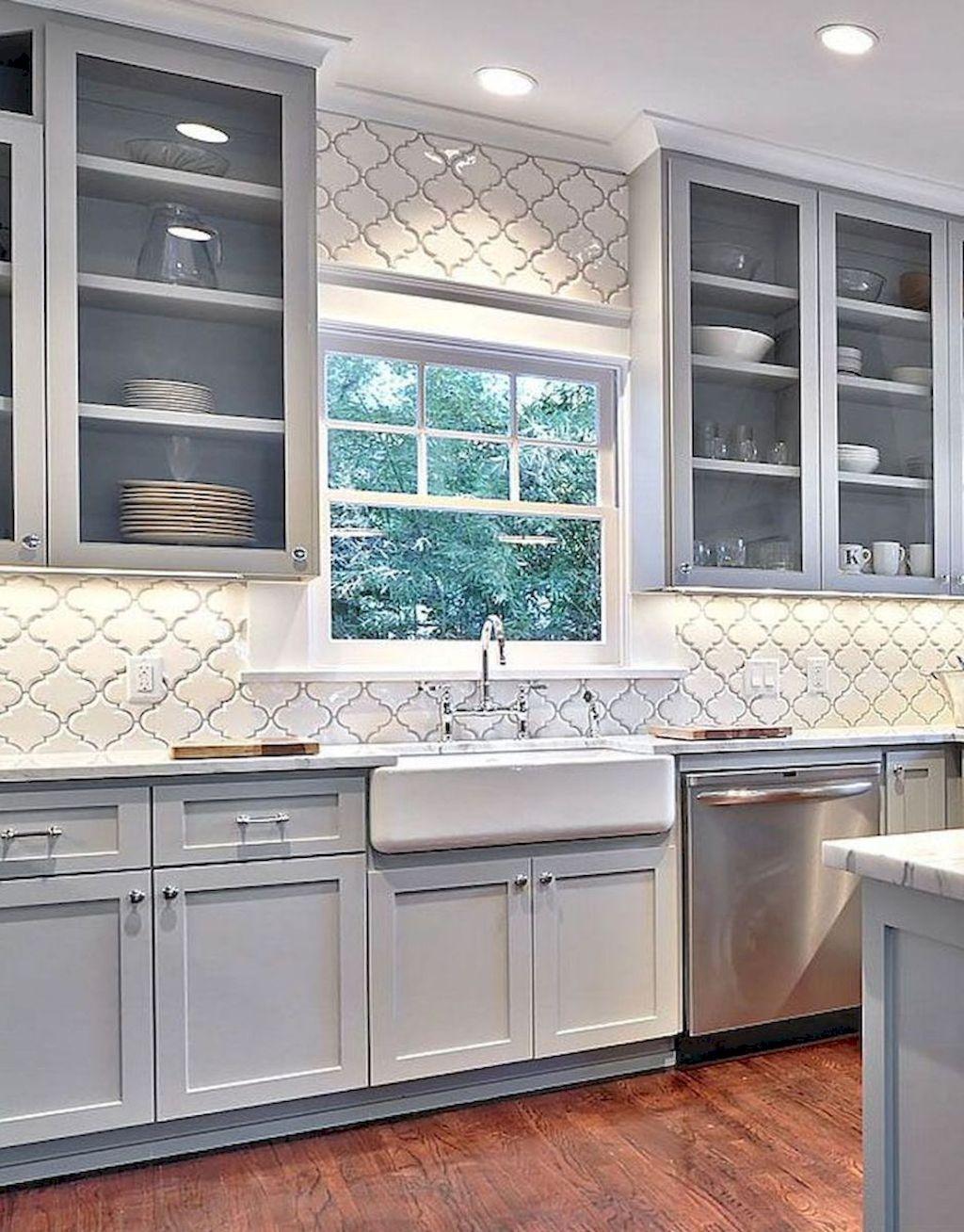 90 Incredible Farmhouse Gray Kitchen Cabinet Design Ideas | Grey ...