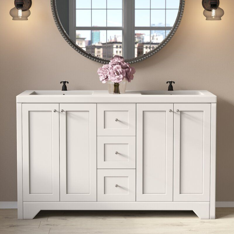 Charlton Home Mata 54 Double Bathroom Vanity Set Wayfair With